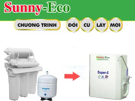 Đổi máy lọc nước CŨ bất kỳ lấy máy lọc nước nano Sunny-Eco MỚI 100%