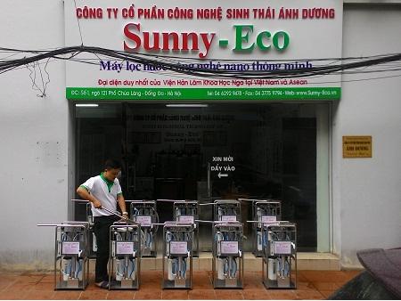 Máy lọc nước nano Sunny-Eco đến các vùng lũ miền Trung