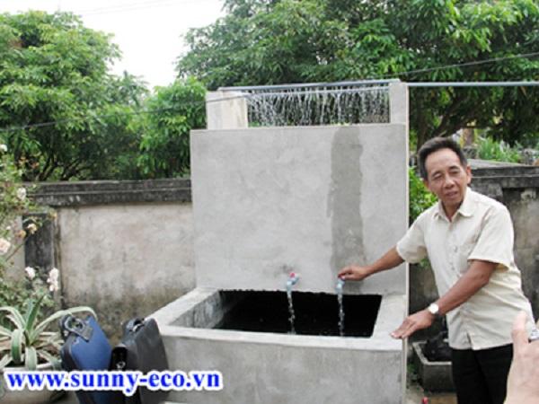 Xây bể lọc nước giếng khoan theo cách truyền thống