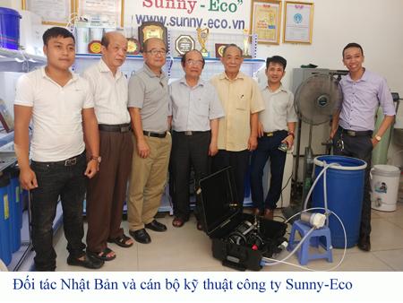Hợp tác Sunny-Eco  Nhật Bản, Máy lọc nước biển xách tay chuẩn Nhật bản 100%.