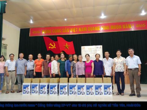 Tặng máy lọc nước nano Sunny-Eco cho phụ nữ Hoài Đức và Thanh Oai, Hà Nội
