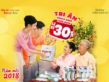 Sunny-Eco TRI ÂN KHÁCH HÀNG xuân Mậu Tuất 2018