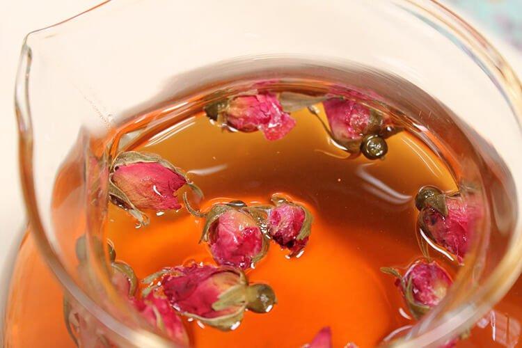 Giảm stress bằng trà hoa hồng