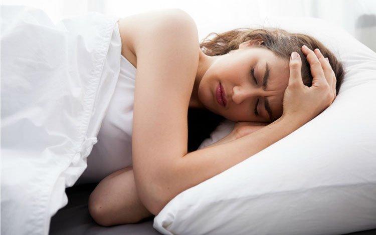 Không ngủ ngon do stress
