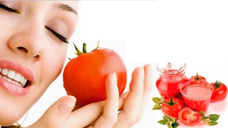 Nước ép cà chua giúp đẹp da
