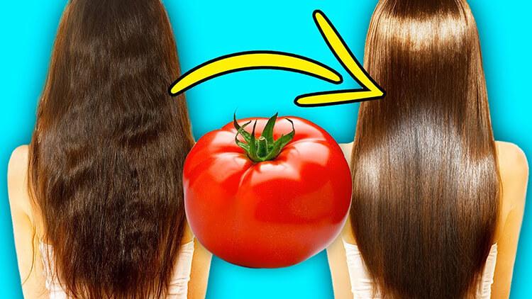 Nước ép cà chua đẹp tóc