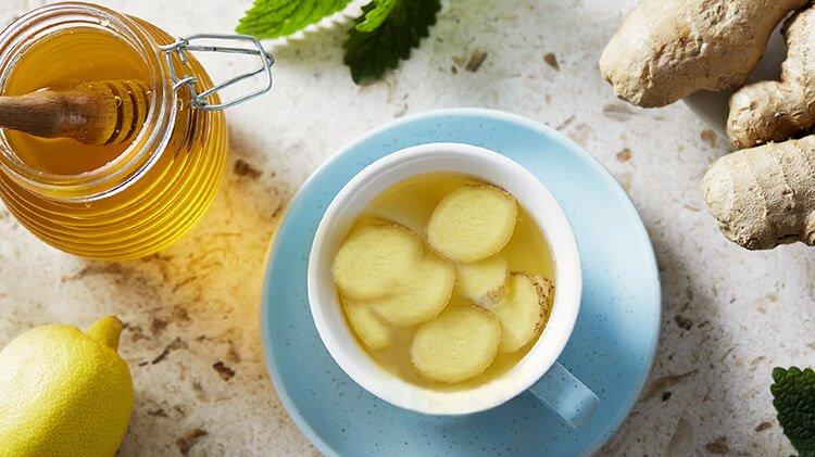 Cách giảm đau họng tại nhà bằng trà gừng