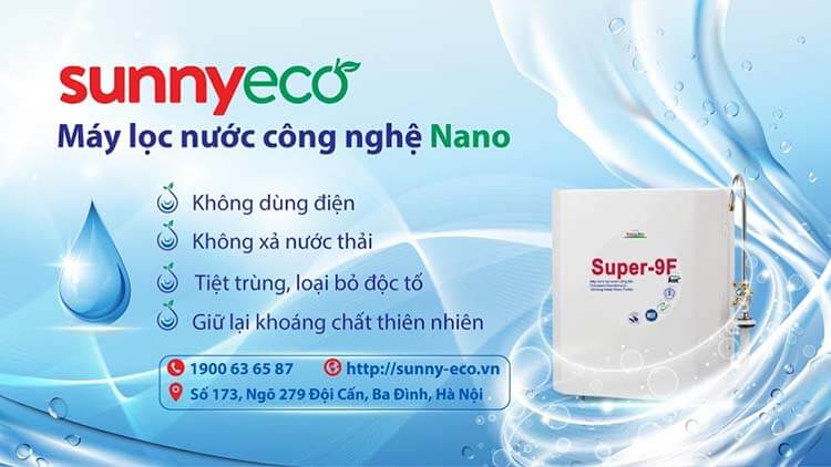 Bảo vệ môi trường với máy lọc nước công nghệ nano