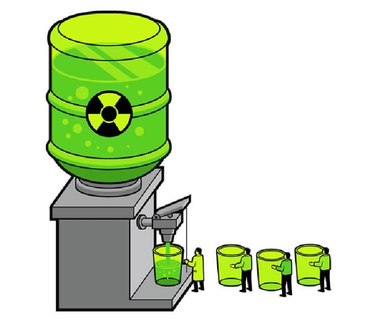 Chất gây ô nhiễm phóng xạ trong nước máy