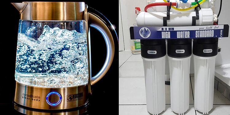 Nước sôi hay nước lọc tốt hơn?